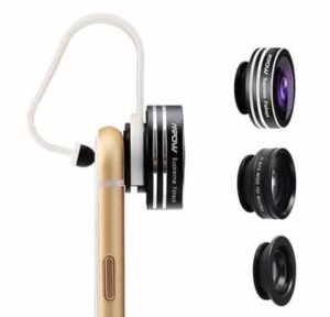 9. Mpow 3-in-1 Clip-on Fisheye Lens