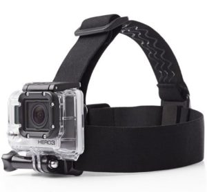 9. AmazonBasics Head Strap Camera Mount for GoPro