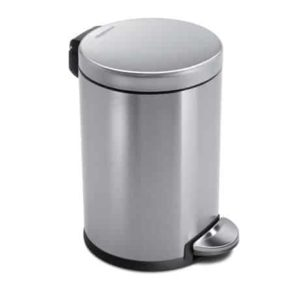3. simplehuman Mini Round Step Trash Can