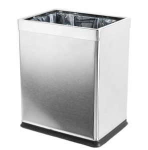 4. Brelso 'Invisi-Overlap' Open Top Stainless Steel Trash Can