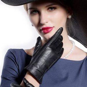 4. MATSU Casual Women Winter Warm Leather Gloves