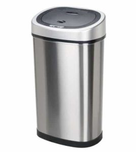 5. Nine Stars DZT-50-9 Infrared Touchless Stainless Steel Trash Can