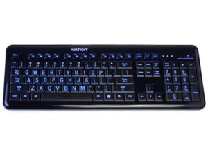 7. Ivation 2.4 GHz Wireless Blue LED Letter Illuminated Computer Keyboard