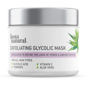 8. InstaNatural Exfoliating Glycolic Face Mask & Scrub