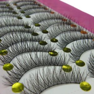 9. Bluelans 10 Pairs Long Cross False Eyelashes