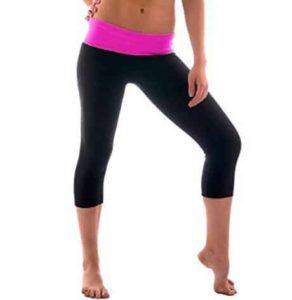 9. Hollywood Star Fashion Women's Slimming Foldover Capri Crop Yoga Pants
