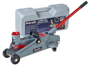 9. Pro-Lift F-2315PE Grey Hydraulic Trolley Jack Car Lift with Blow Molded Case