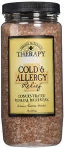 9. Village Naturals Therapy Cold & Allergy Mineral Bath Soak