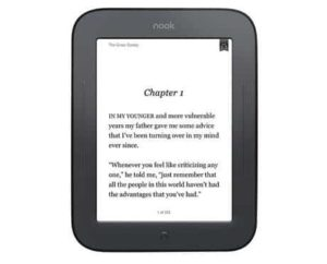 4. Barnes & Noble Nook 6 Simple Touch
