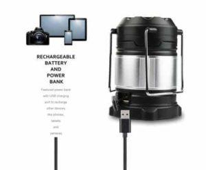 4. Etekcity Portable Rechargeable LED Camping Lantern Flashlights & 4400mah USB Power Bank