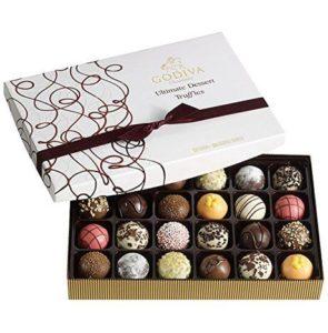 4. Godiva Chocolatier Ultimate Dessert Truffles Gift Box