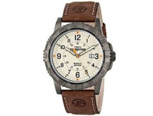 6. Timex Men's Expedition Rugged Field Watch with Leather Band