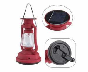 7. Image Hand Crank and Solar Powered LED Lantern 5.5V 50mA Solar Panel for Outdoor & Indoor