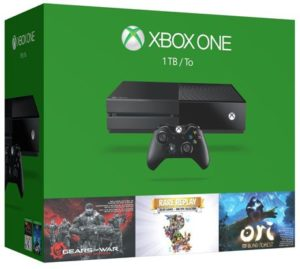 7. Xbox One 1TB Console - 3 Games Holiday Bundle