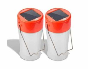 8. Etekcity 2 Pack Portable Outdoor Rechargeable USB and Solar LED Camping Lantern