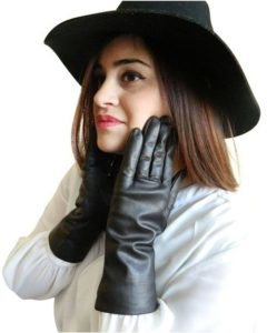 9. Fownes Women's Cashmere Lined Lambskin Leather Gloves