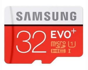 10. Samsung 32GB EVO Plus Class 10 Micro SDHC with Adapter