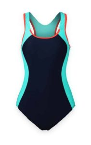 2. ReliBeauty Women's Backless Splice One Piece Swimsuit