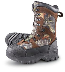 4. Guide Gear Men's Insulated Monolithic Hunting Boots Waterproof Thinsulate 2400 Gram