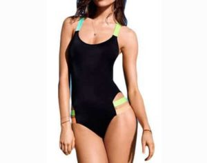4. Halife Women's Fluorescent Strap One-piece Bikini Monokini Swimwear