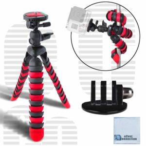 6. eCost Flexible Tripod And Tripod Mount Adapter For GoPro Cameras