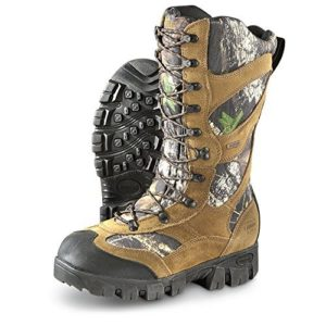 7. Guide Gear Giant Timber II Men's 1400 Gram Insulated Hunting Boots Waterproof Mossy Oak