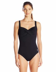 7. TYR Women's Twisted Bra Solid Controlfit Top