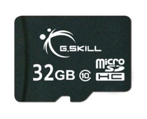 8. G.Skill 32GB Class 10 MicroSDHC Flash Card with SD Adapter