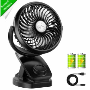 Comlife Rechargeable Battery Operated Mini Fan