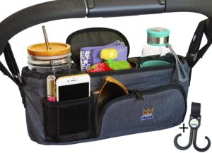 7. Organized Empire Stroller Organizer with Cup Holder