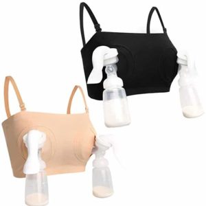 5ac61fbdb0db7 HOFISH 2-Pack Easy Hands-Free Breast Pump Bras with Free Bra Extenders