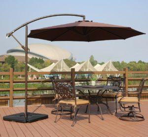 Amt Deluxe Adjule Offset Cantilever Hanging 10 Patio Umbrella