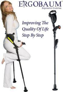 8. Ergobaum Ergoactives Forearm Crutches